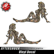 Mudflap Girl Camo Sticker Decal
