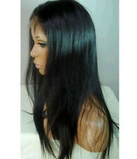 """custom-made indian remy human hair front lace wigs 22""""-30"""" silky straight wigs"""