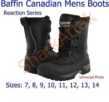 Baffin Canadian Mens Winter Boots, Reaction Series, Sizes: 7 8 9 10 11 12 13 14