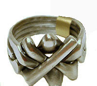 Sterling Silver Antique 4-Band Puzzle Ring