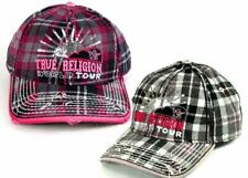 True Religion Brand Jeans HAT Cap WORLD TOUR Sequins Navy or Grey plaid TR1176