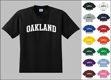 City of Oakland College Letters T-shirt