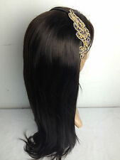 "lace front wig indian remy human hair 2# dark brown silky straight wig 8""-22"""
