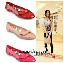 New Women Fashion Ballet Jelly Flats Shoes 3 Colors 013