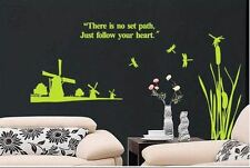 Windmill & Dragonfly Vinyl Wall Art Graphic Sticker Decal Fashionable Decoration
