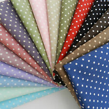 fat quarter  cotton poplin polka dot fabric  loads of colours 18 x 22 inches