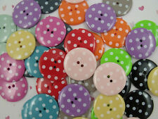 3 large spotty buttons 34mm diameter variety colours