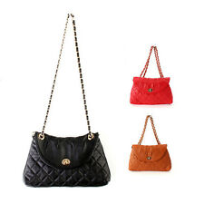 Women's Chain Strap Leather Quilted Shoulder Small bag  Lady Cross Body Handbags