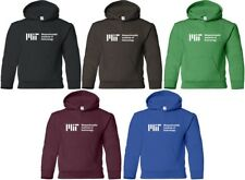MIT Hooded Sweatshirt UNIVERSITY Hoodie SCIENCE MATH GEEK 80s HOODY