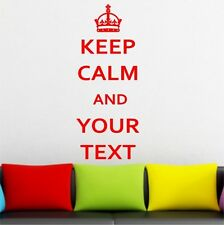 KEEP CALM AND YOUR TEXT WALL STICKER DECAL #5AN
