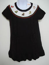 GYMBOREE GIRLS PUPS AND KISSES PURPLE KNIT YORKIE DRESS SIZE 3T NWT