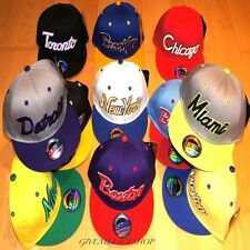SPECTACULAR SNAPBACK CAPS, FLAT PEAK BASEBALL FITTED HATS, RARE, RETRO, VINTAGE