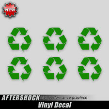 Recycle arrow sticker garbage environment decal