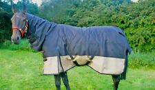 FAST P&P Knight Rider Heavyweight Turnout COMBO Rug FullNeck 4'6 - 7'3 Blk/Beige