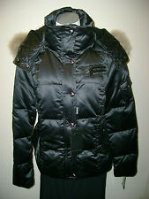 Andrew Marc Arctic Down Raccoon Fur Trim Jacket NWT $450 BLACK