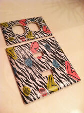 ZEBRA PRINT AND HEARTS LIGHT SWITCH COVER