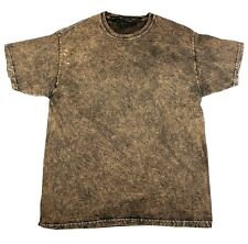 Vintage Mineral Wash Brown T-Shirts, S to 3XL, Short Sleeve, 100% Cotton, Gildan