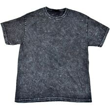 Vintage Mineral Wash Black T-Shirts S to 3XL, Short Sleeve, Gildan, 100% Cotton