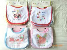 1 Pack of 7 Designs Baby Velcro Neck Plastic Backed Bibs Birth Newborn Small 0-6