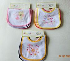 7 x Very Small Newborn 0-6M Boy/Girl Unisex Baby Bibs Perfect Gift/Present Idea