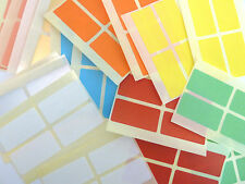 40x20mm Rectangle Removable Low Tack Colour Code Stickers Coloured Sticky Labels