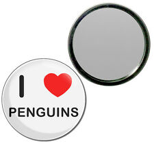 I Love Heart Penguins 55mm or 77mm Round Compact Handbag Make Up Mirror