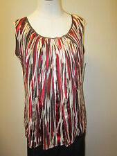Anne Klein Pleated Scoopneck Double Layer Shell Tank NWT $195