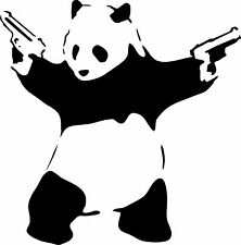 BANKSY PANDA VINYL WALL ART DECAL STENCIL STICKER X LARGE