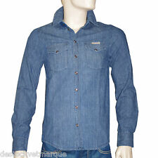 PEPE JEANS chemise boutons pressions bleue homme