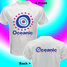 New OCEANIC AIRLINES LOST TV SHOW / SERIES WHITE T-SHIRT 2-SIDES Size S - 3XL