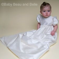 "Baby Beau & Belle ""Jane"" Girls Silk Antique Christening, Baptism Gown"