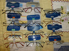 Magnivision Foster Grant Reading Glasses Men's Wire Frame Aviator MSRP $17 & $22
