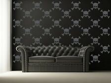 Skull Wall Decal, Halloween Wall Decals, Skull Crossbones Decal, Goth Decor