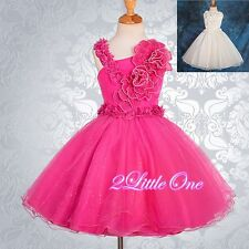 Pearls Wedding Flower Girl Dress Pageant Party Formal Occasion Size 2T-9 #172