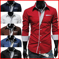 THELEES Mens Casual & Formal slim fit Long sleeve dress shirts HOT collection