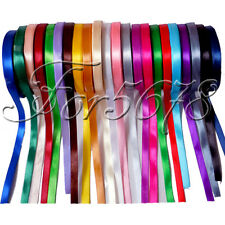 "1 Roll 25 Yards 1/4"" 6mm Satin Ribbon Craft Bow Wedding Party Supply Colours"
