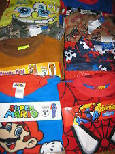 Pajamas SpongeBob Spider-Man TransFormers Cars Skulls 4 6 8 10 12 14 NWT $40