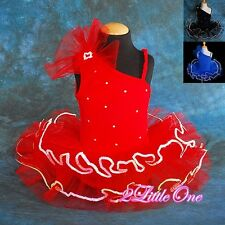 Beaded Girl Ballet Tutu w/ Arm Mitts Child Dance Costume Dress Sz 2T-7 #021