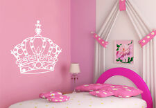 ★ PRINCESS CROWN TIARA ★ Wall Art Quote Sticker Mural★ Multiple Colour Choices