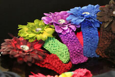 Baby Girl Crochet Daisy Headband Hair Fashion Accessories Clothes Rompers