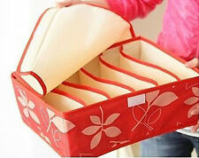 Red Leaf Fine Foldable Tight Cells Oxford Fabrics Cloth Organizer Box With Cover