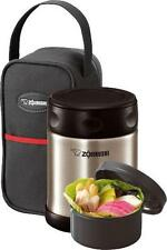 Zojirushi Stainless Food Jar SW-ESE35 w/ Carry Pouch & Bonus Bowl Silver or Pink
