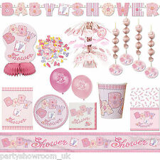 Baby Shower Pink Girl Party Tableware Decorations - All The Items You Need PS