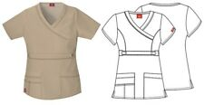 Dickies Khaki Gen Flex Youtility Mock Scrub Top 817355 Free Shipping! NWT
