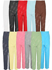WOMENS ELASTICATED WAIST BAND LADIES STRAIGHT LEG TROUSERS PANTS PLUS SIZE 10-24