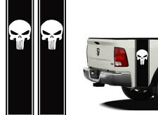 """Truck Bed or Car Racing Stripe decals Universal 11""""x40"""" Punisher color options"""