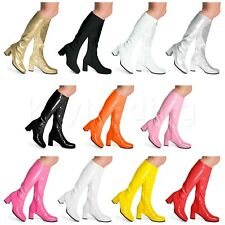 Fancy Dress Party GOGO Boots - 60s & 70s Party Boots - Size 2.5 to 11 UK