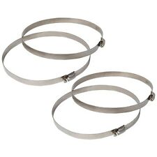 "2 Pair Clamp For Grow Room Light Flexible Duct Fan Worm Hose Ducting 4"" 6"" 8"""