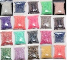 12g Half Round Acrylic Crystal Flat Beads For Craft / Nail Art 3mm 17 Colors