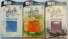 3 (6) Glade Decor Scent Gel Refills Selection for Electric Warmer or Decor Glass